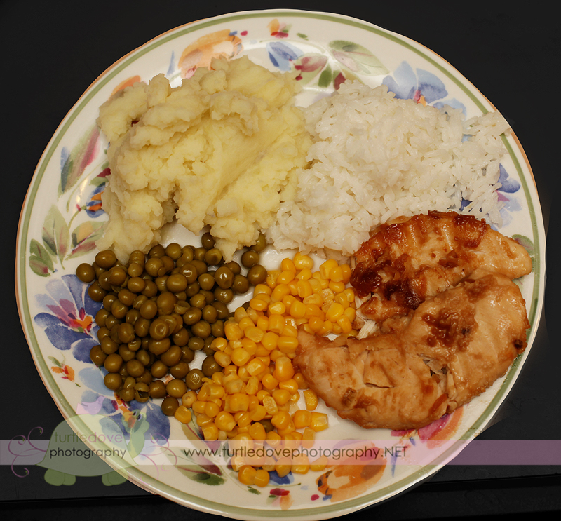 My husband's plate